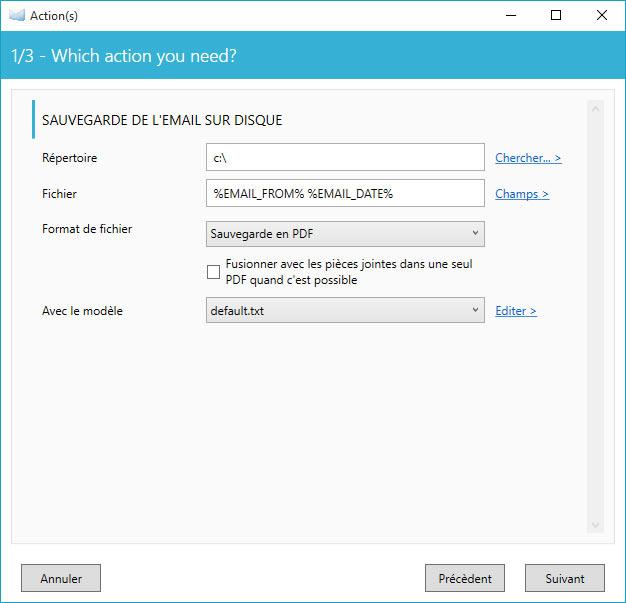 sauvegarder messages windows mail